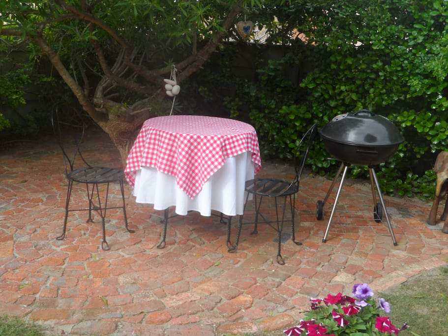 Barbecue space in private garden