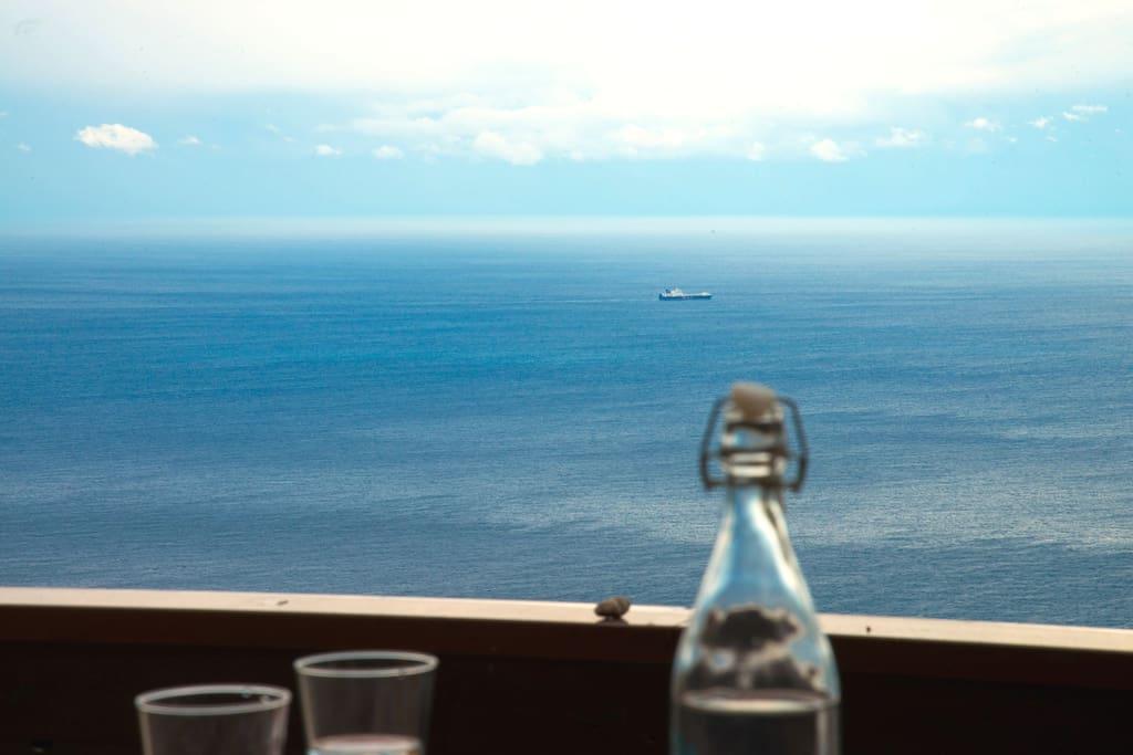 Enjoy the endless blue horizon over the Ionian Sea