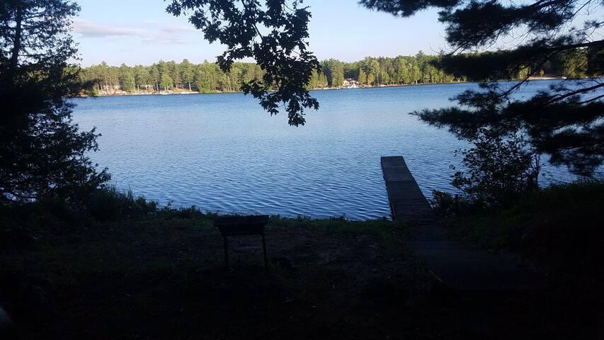 Rustic cabin on a lake, Lewiston