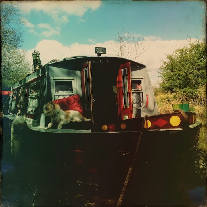 Cosy quirky rustic boats around  the regents canal