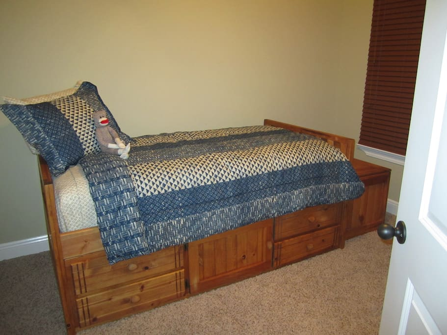 Twin Size Bed in Separate Room for Bookings of Three