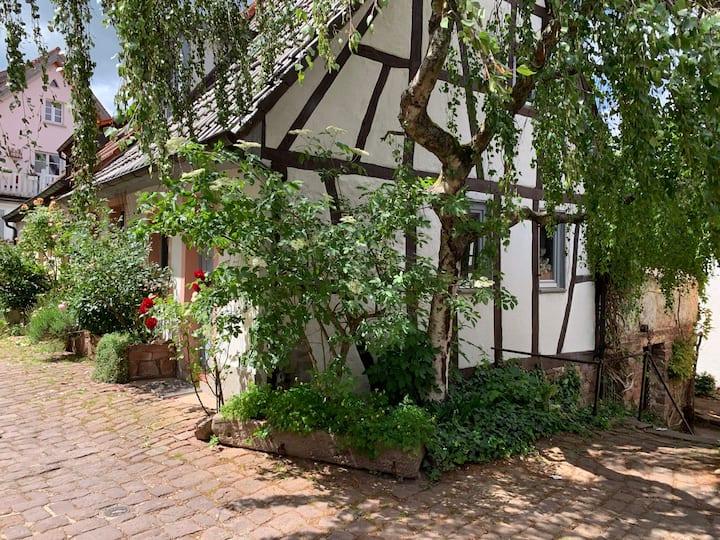 Romantisches Haus auf dem Dilsberg bei Heidelberg