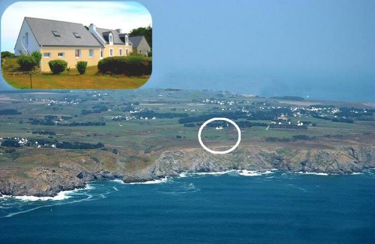 Appart/ gîte vue sur lande et mer - Locmaria - Apartment