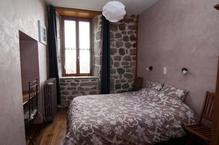 Chambre Basalte au château de Marchastel - Marchastel - Bed & Breakfast