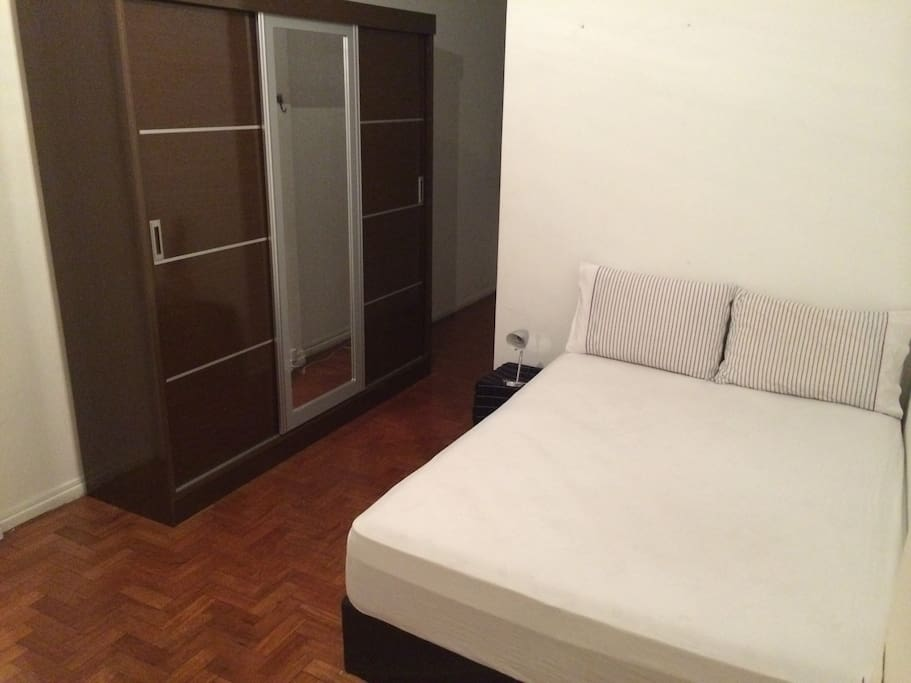 King Size bed, large wardrobe