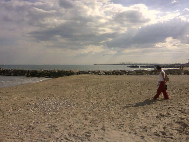 Studio 4 pl bord de mer accès plage