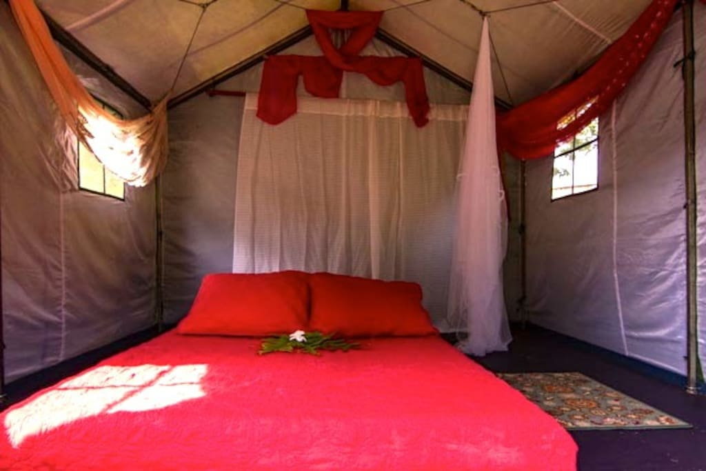Another inside view of the Tent Cabin.