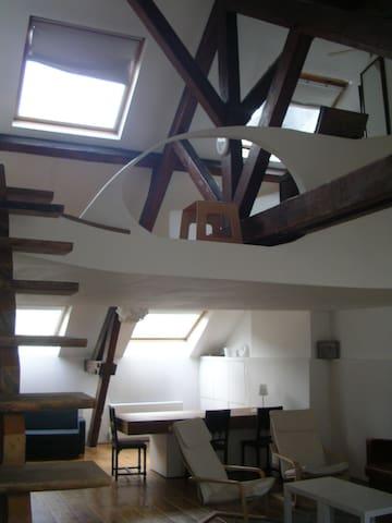 superb central loft-apartment - Bruxelas - Apartamento