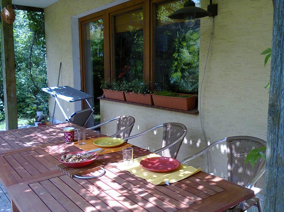 bei schönem Wetter, draußen essen