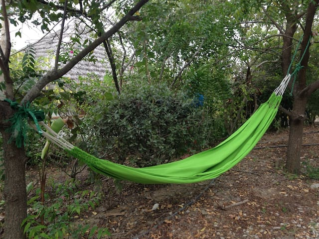 A little hammock for relaxation in our gardens