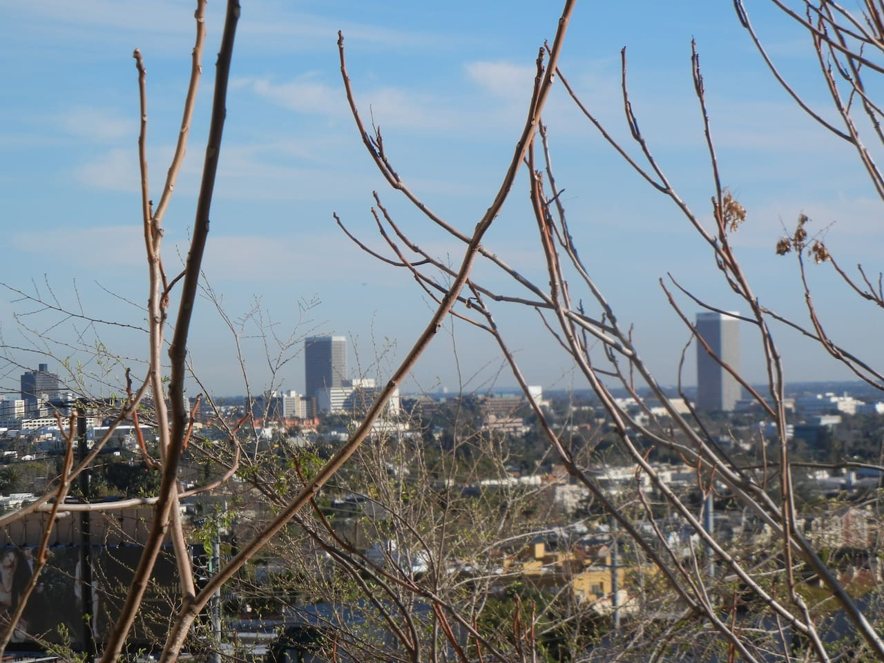 View of southern  Los Angeles from the guest bedroom.