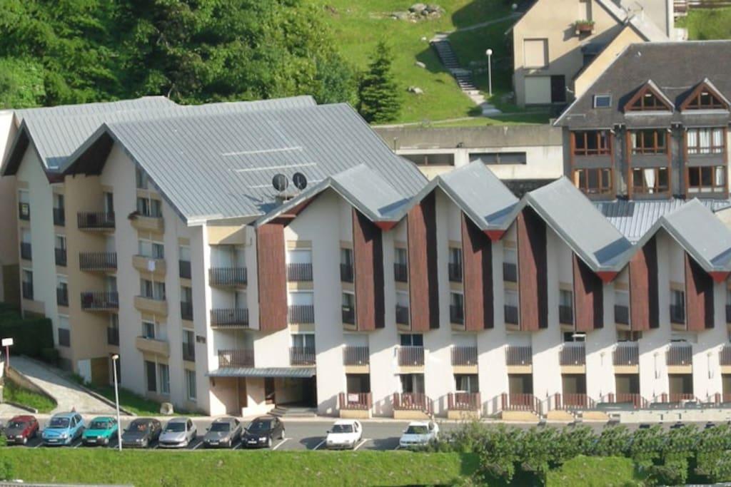 Résidence Neouvielle, tout près du centre de Barèges dans un quartier très calme