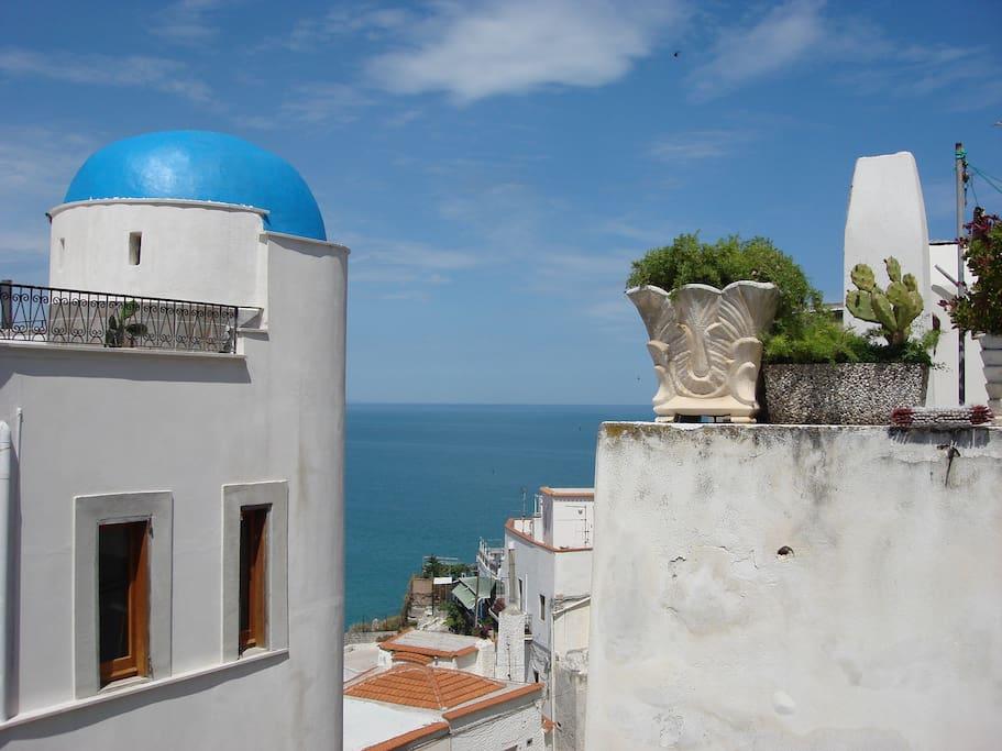 Vista dal terrazzo, lato torretta