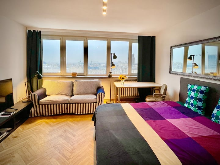 Super apartament WHITE centrum Warszawy WiFi metro