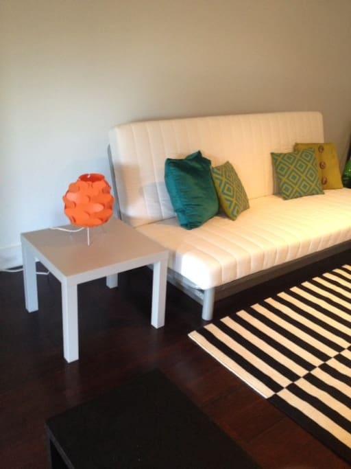 Comfy queen size futon