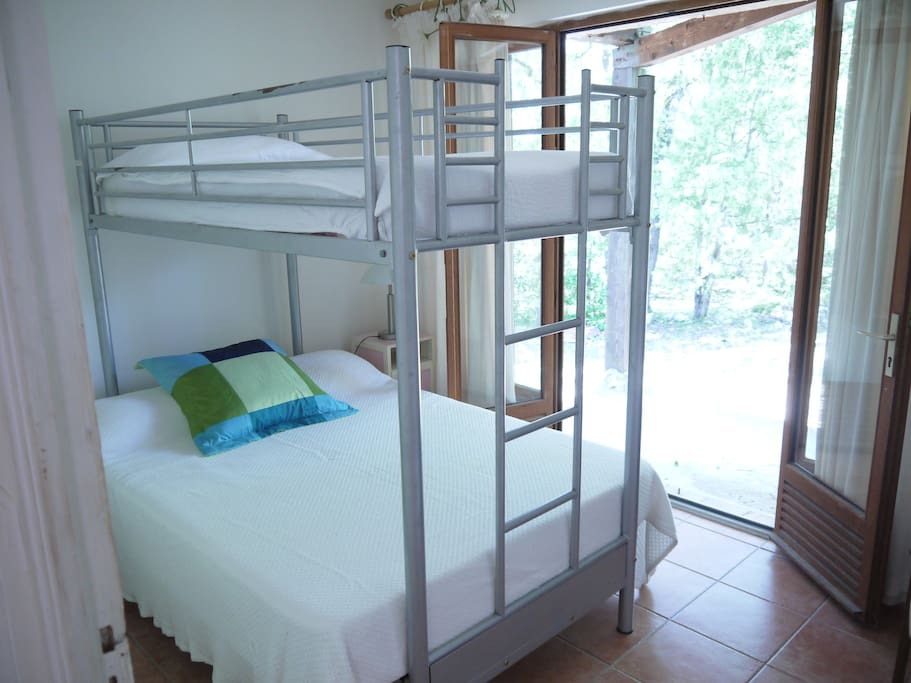 This double bed with a single on top is always a firm favourite with the youngsters