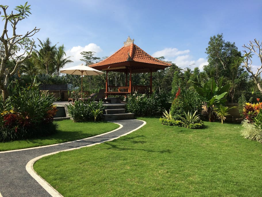 5 bedroom private pool villa ubud villas for rent in for Garden pool villa ubud