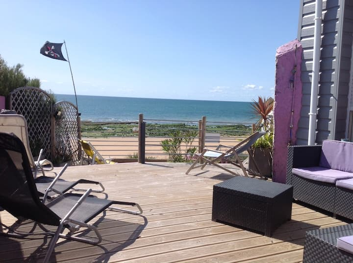 villa 14 pers face mer et accés direct  avec spa