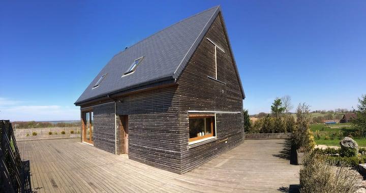 House with splendid view: Baltic Sea & lake