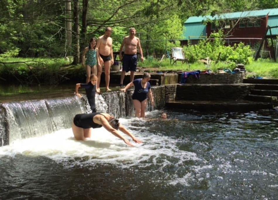 wonderful swimming hole just by the cottage