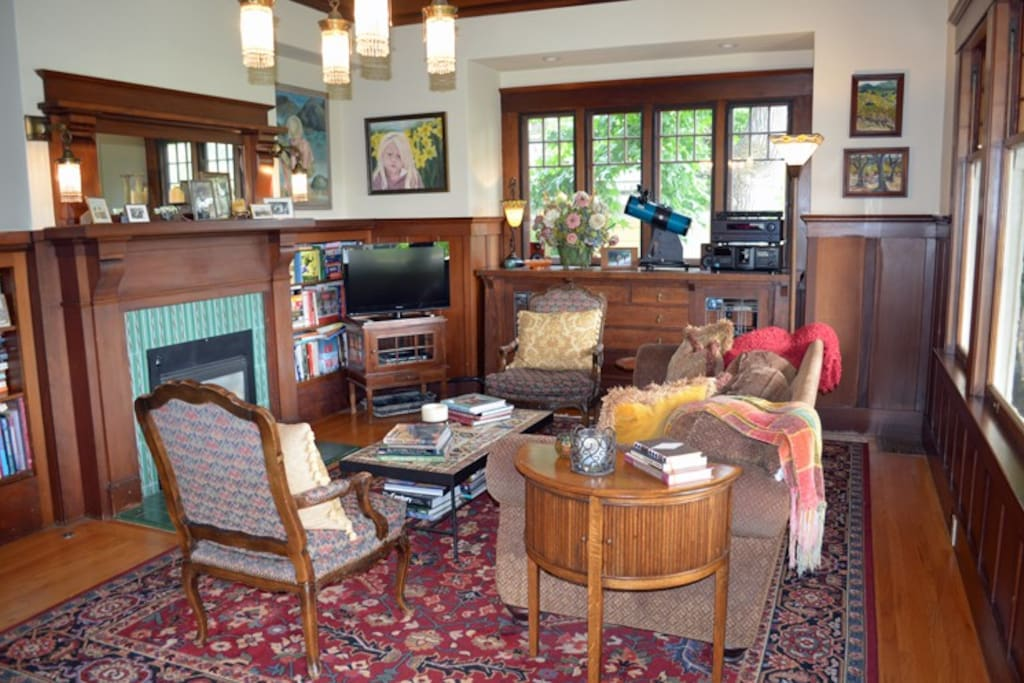 Read a book or catch up on the days events in the cozy living room.