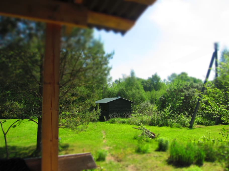 View of sauna from summer house