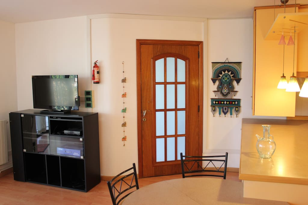 Wide Bar-top and Complete Multimedia Environment (Wi-fi,  Hi-Fi, SAT, LCD, DVD) for More Fun.