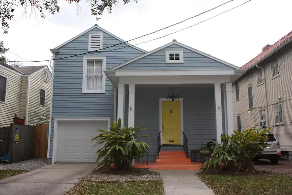 Our house sits on a beautiful oak lined street with historic homes throughout the neighborhood.
