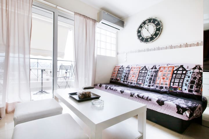 Sunny cozy apartment in Acropolis area great view - Athina