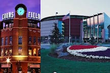 Catching a concert or sporting event at Coors Field or the Pepsi Center?  You can get there in less than 20 minutes total by walking and using the nearby train station.