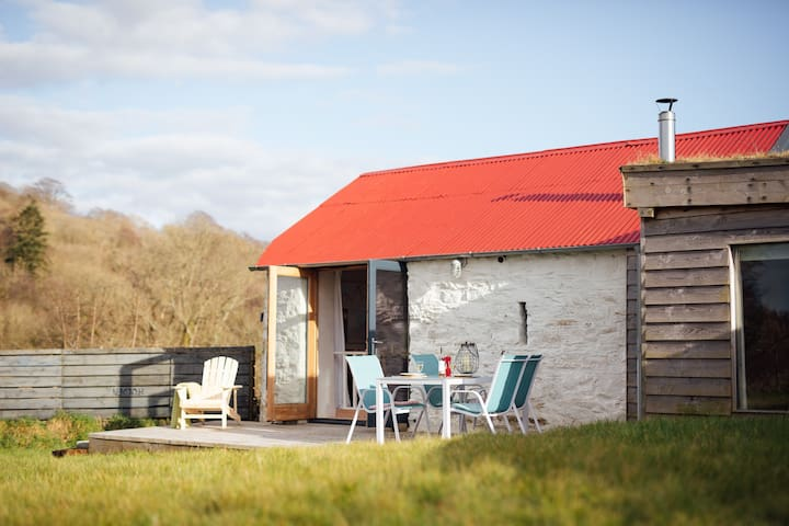 The Dairy Shed, quirky barn and cabin nr Aberaeron