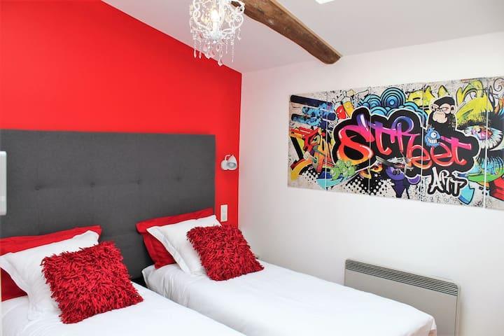 La Chambre Street Art 2 lits 80*200 ou 1 lit 160*200