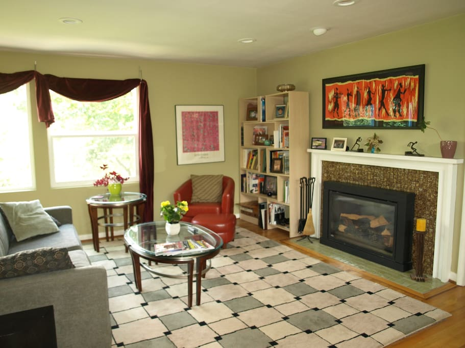 Main Floor Living Room with gas fireplace