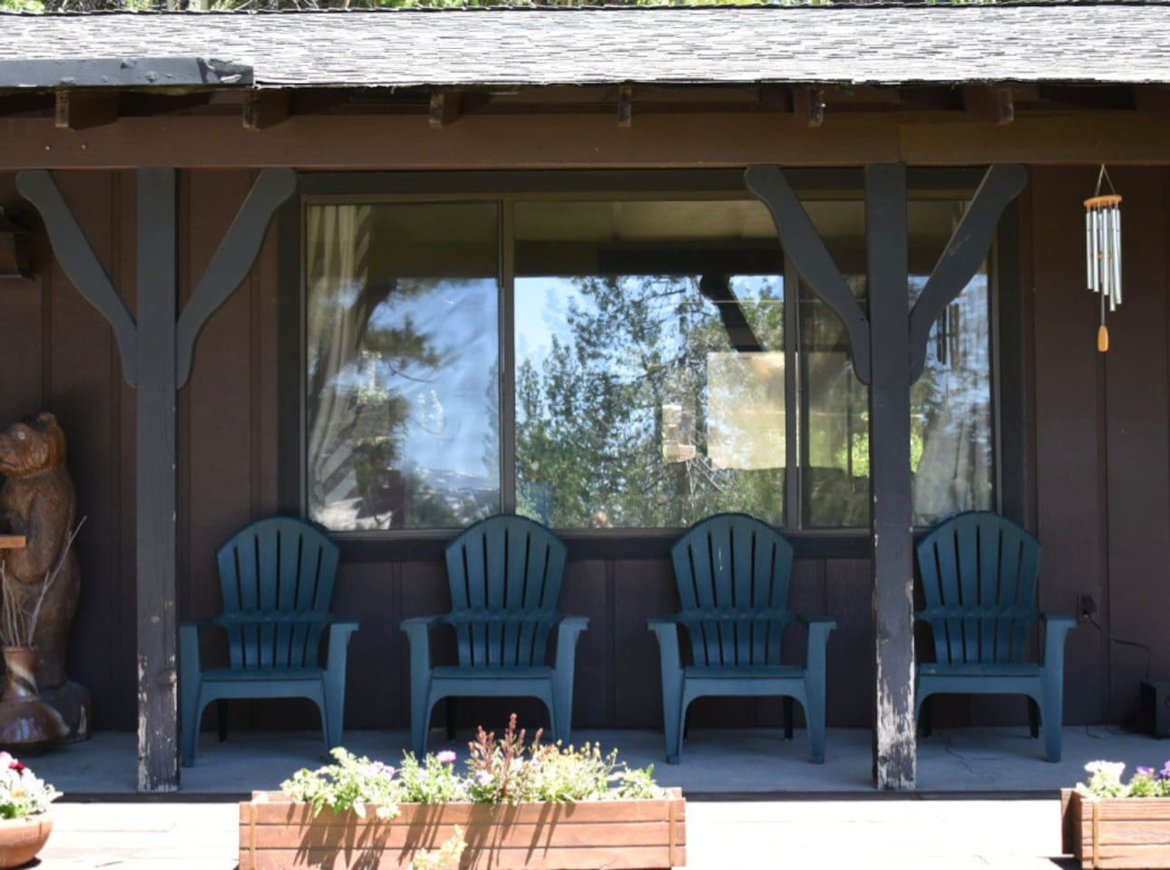 Front porch: welcome, relax and stay a while!