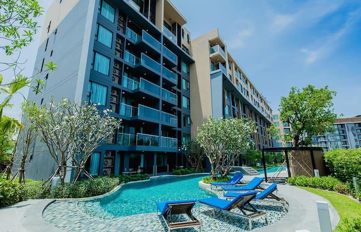 Comfy studio apartments. 3 pools, WiFi, washing machine❤️ Surin beach (420)