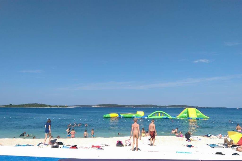 beach Puntizela in near