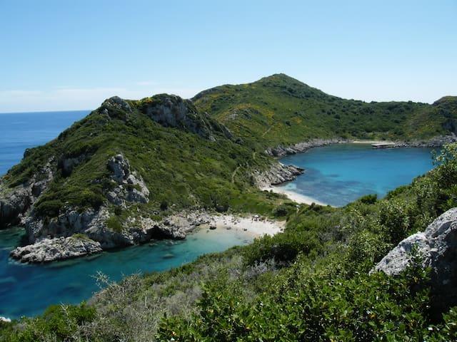 Ferienwohnung direkte Strandlage Agios Georgios - Afionas - Apartament