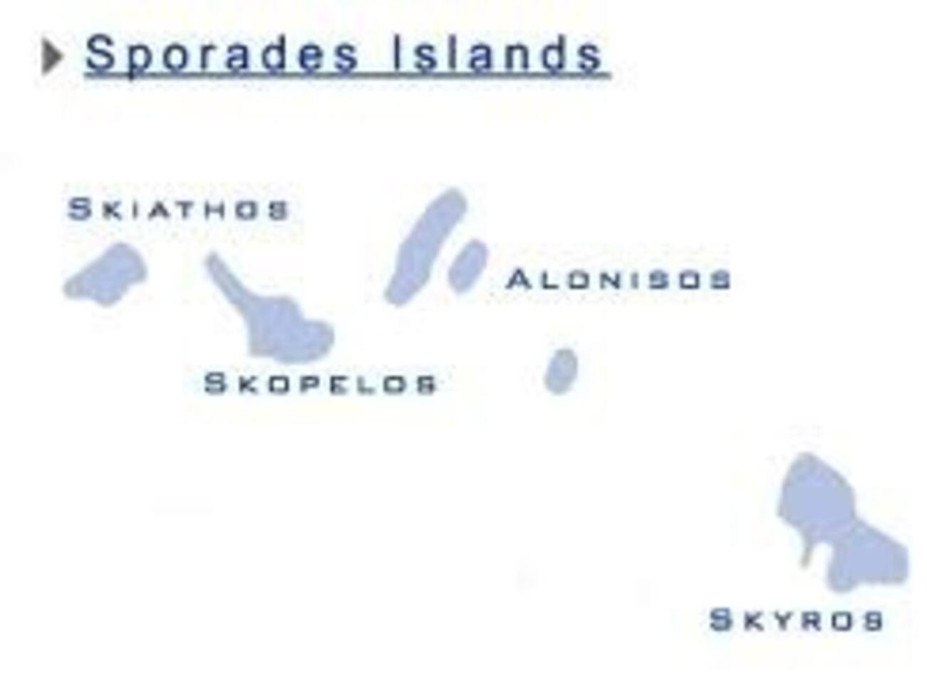 Yes, typically it is one of Sporades, at Northern Aegean sea.