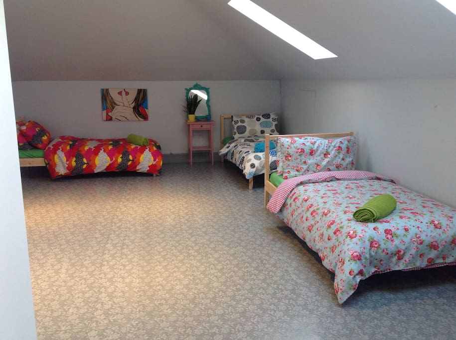 This is our 7 bed dorm room great for hill walking groups and friends or family's traveling together