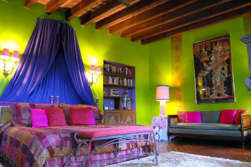 @CasaSchuck .. La Biblioteca Suite .. Full bath, Private Terrace, Large Closet, Cantera Fireplace, Amazing views and gardens all around you!