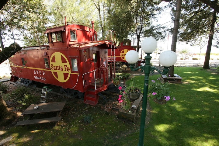 Wine Country Caboose at the Featherbed Railroad