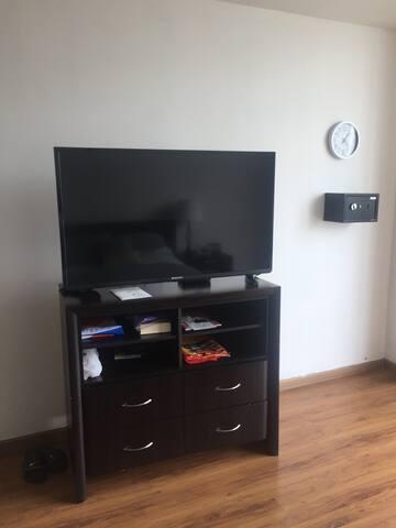 TV set bedroom
