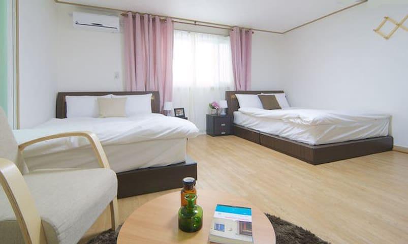 402[HOTPRICE]2QN AC/WiFi/privbathro - Jung-gu - Appartement