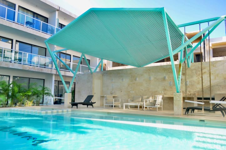 New, great location, pool, roof Tulum downtown