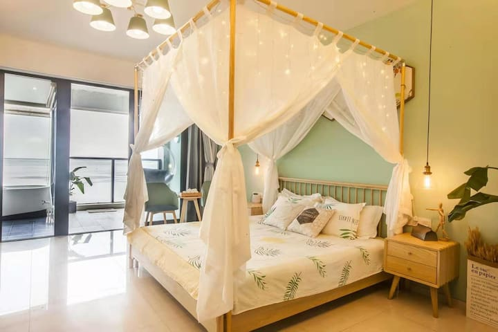 NO blind angle!Sea View/king-size bed Apartment
