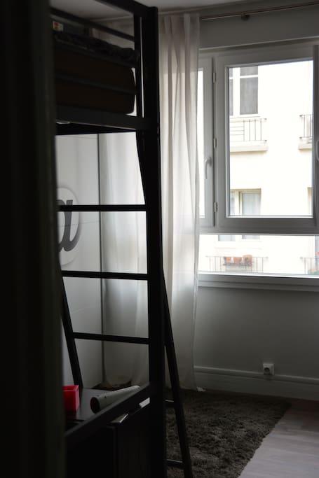chambre adolescente avec lit de 140 cm