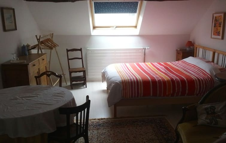 Large bedroom for 1 to 5 people - Samois-sur-Seine - Bed & Breakfast