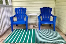Enjoy sitting on the screened in porch.