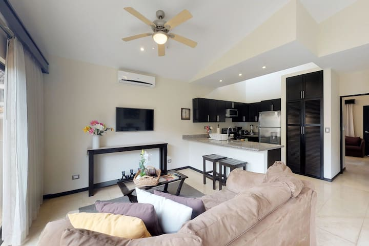 Two condos offer shared pool, tennis and gym at beach club, easy beach access