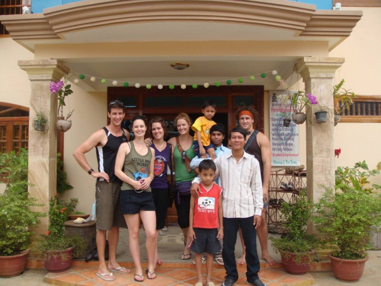 Our awesome Aussie guests and us